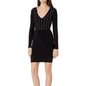 GUESS Women's Long Sleeve Cocktail Dress